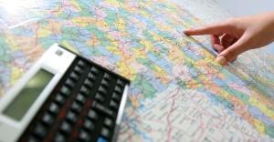 calculadora e mapa